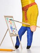 hand painter painting