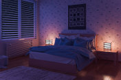 Cozy Bedroom at Night