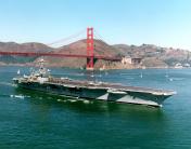 Aircraft Carrier and Golden Gate Bridge