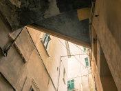 courtyard in an ancient Italian village