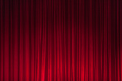 Red Theatre Stage Curtain Background