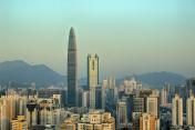 Shenzhen Kingkey 100 and building city skyline