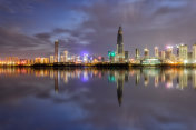 Night view of Shenzhen Bay