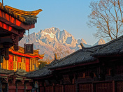 View of Yulong Mountain at Sunrise from Lijiang
