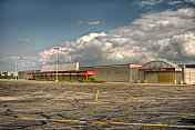 Vacant commercial store parking lot