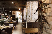 Interior of modern restaurant, loft style