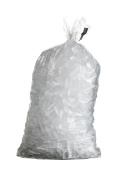 Isolated shot of bag containing ice