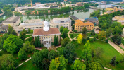 Aerial View of Beautiful College Campus