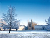 Cambridge in the snow.