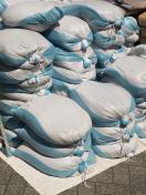 Stacked sandbags