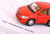 Insurance Policy with red car