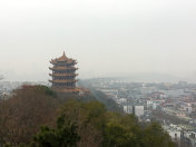 Yellow Crane Tower and snake hill garden view