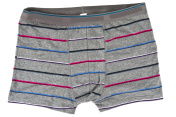 striped men's boxer briefs isolated