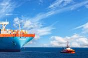 Tug with ship