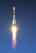 Cargo Carrier Rocket Launch