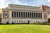 Butler library building at Columbia University, New York