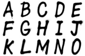 Graffiti alphabet A–O
