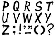 Graffiti alphabet P–Z