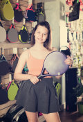 bright racket for tennis
