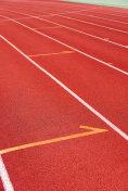 Red running track in sport field