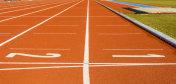 Athletics running track at the stadium.