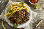 Hearty Homemade Steak and French Fries