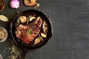 Roasted pork steak