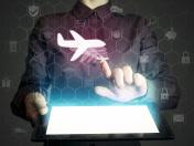 aircraft icon, travel concept