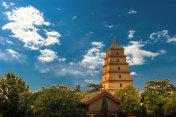 Great Wild Goose Pagoda in Xian,China