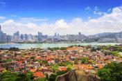Urban architectural landscape and skyline in Xiamen
