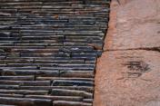 Roof tile pavement