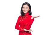 Asian woman in cheongsam dress