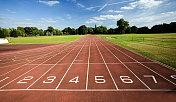 Panoramic view of empty running track