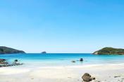 landscape of the beautiful beach