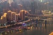 Chongqing city at night