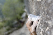 Rock climbing Hand with chalk