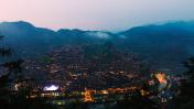 nightscape of Miao village