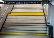 Empty stairs in Paris metro
