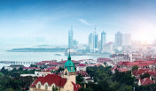 The beautiful coastal city of Qingdao