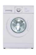Washing Machine Over White Background