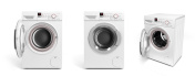 collection of Washing machine on white background
