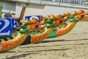 The chinese culture dragon boat