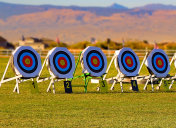 Archery Targets in the desert