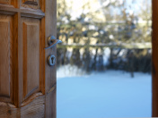 Open Door In Winter