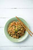 Fried Rice Vertical Top View