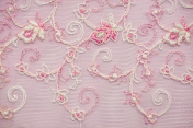 Pink lace floral pattern