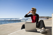 Online. Business by the sea