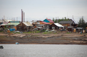 Town at Kolyma river coast