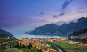Nago-Torbole and Lake Garda at sunset