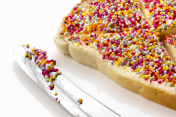 Fairy Bread with Butter Knife Side View